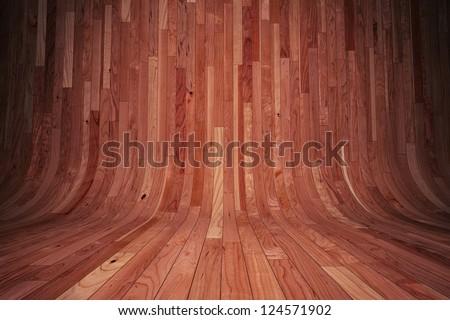 Wooden backdrop with brown hardwood floor texture - stock photo