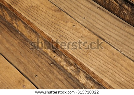 Wooden background. Brown old texture of wooden staircase