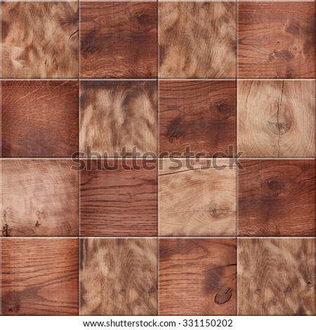 Wooden background, squares in a checkerboard pattern - stock photo