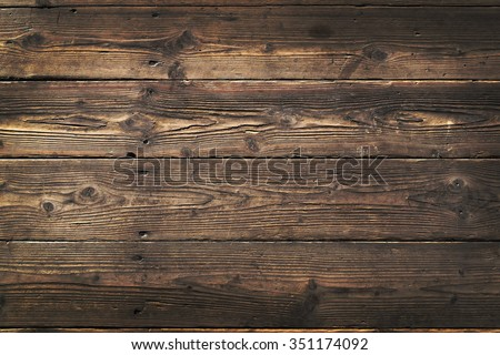 Wooden background. Texture with an old, rustic, brown planks - stock photo