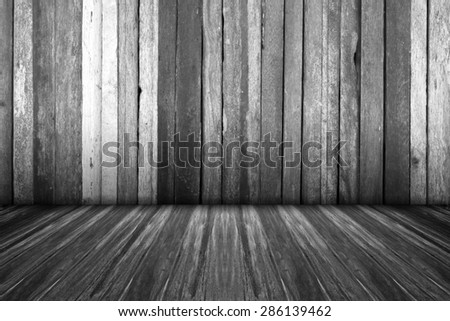 Wooden balconies and walls decorated wooden show products