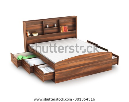 Wooden how to build a platform bed with plywood for Wooden divan bed with drawers
