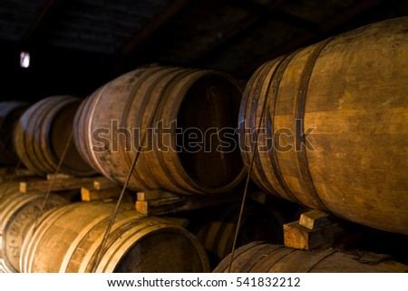 Wooden beer barrel