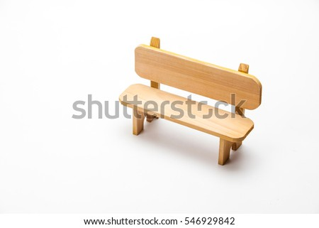 Wooden bench isolate