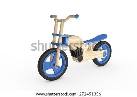 Wooden bike - Toy - stock photo