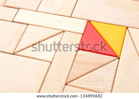 Wooden block background - stock photo