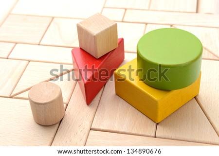 Wooden blocks - stock photo