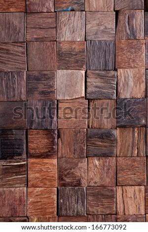 Wooden blocks background, texture - stock photo