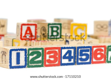 Wooden blocks spell out your future. Education and School - stock photo