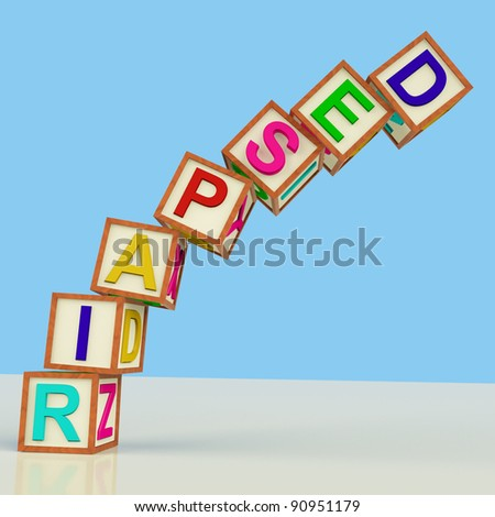 Wooden Blocks Spelling Despair Falling Over As Symbol for Stress And Panic - stock photo