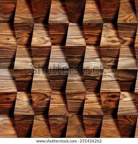 Wooden blocks stacked for seamless background, cherry veneer - stock photo