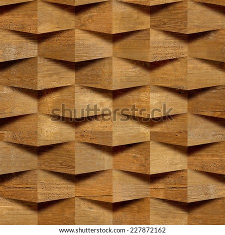 Wooden blocks stacked for seamless background, veneer rosewood  - stock photo
