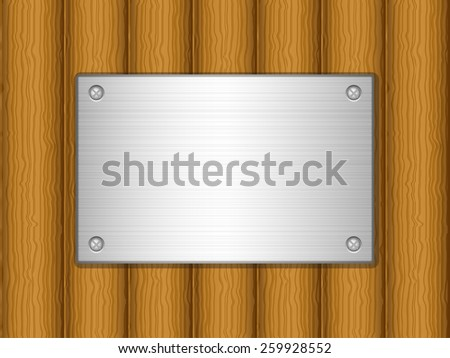 wooden board and metal plate illustration.
