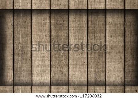Wooden Board Frame - stock photo