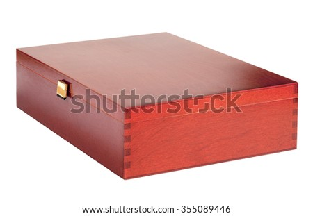 wooden board game box isolated on a white background