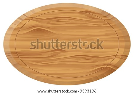 Wooden board oval