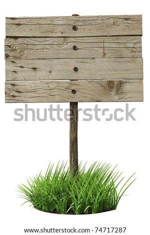 Wooden board sign (3d illustration) - stock photo