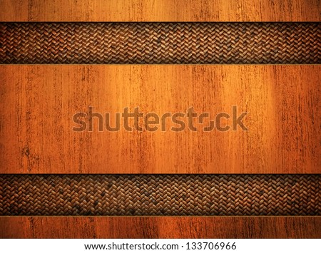 wooden board with rattan
