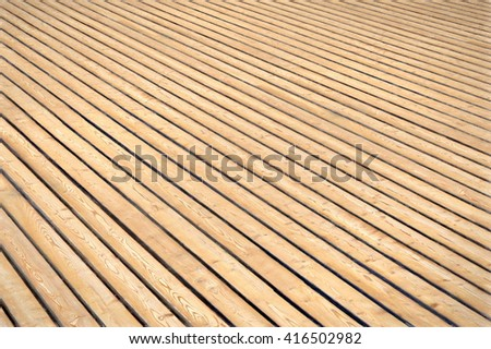 wooden boards perspective sight - illustration - stock photo