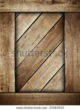 wooden box background - stock photo