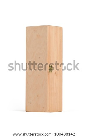 Wooden box for wine on white background. - stock photo