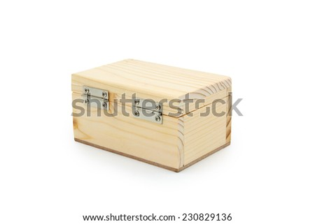 Wooden box. Isolated on a white background.