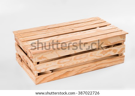 Wooden box with smoked fish, eco-friendly product - stock photo