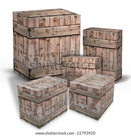 Wooden boxes for the shipment of goods