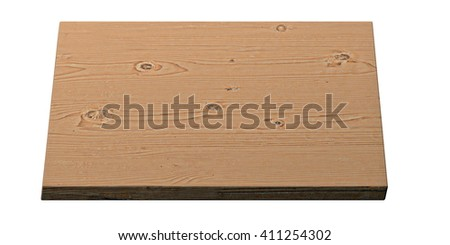 wooden brown board  -  3D illustration - stock photo