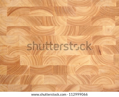 Wooden butcher's block background, new and without knife marks. - stock photo