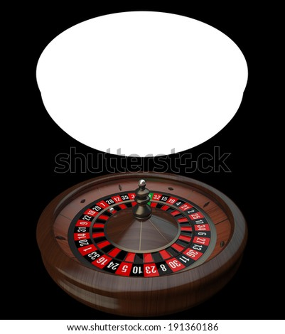 Wooden Casino Roulette Wheel - stock photo