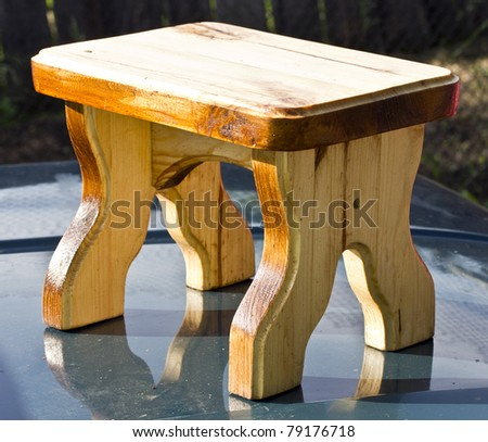 Wooden chair a stool - stock photo