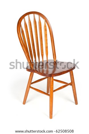 Wooden chair isolated on a white background - stock photo