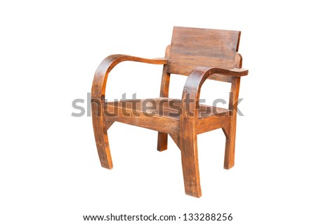 Wooden chair, isolated on white background