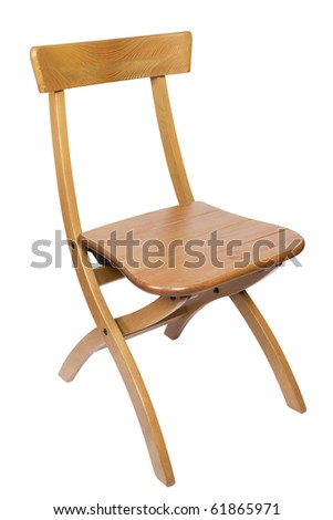 wooden chair,isolated on white with clipping path.