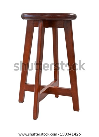 wooden chair on white background. - stock photo