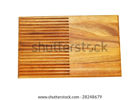 Wooden chopping board isolated included clipping path