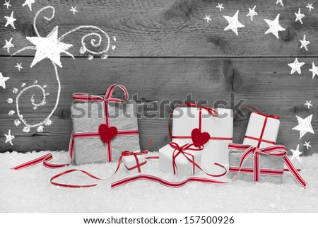 Wooden Christmas tree with moose, candles on wooden background. - stock photo