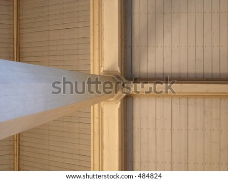 wooden church ceiling - stock photo