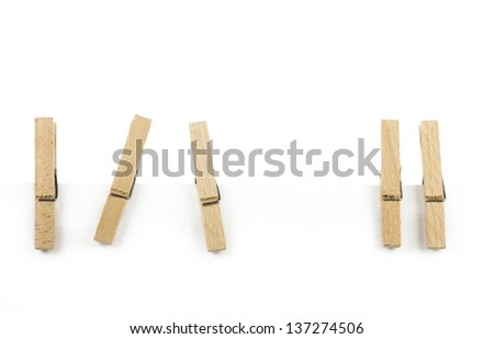 Wooden clothespin - stock photo
