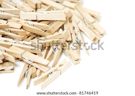 wooden clothespins and empty space for your text