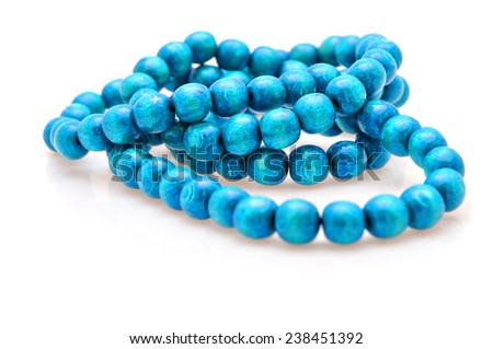 wooden color beads - stock photo