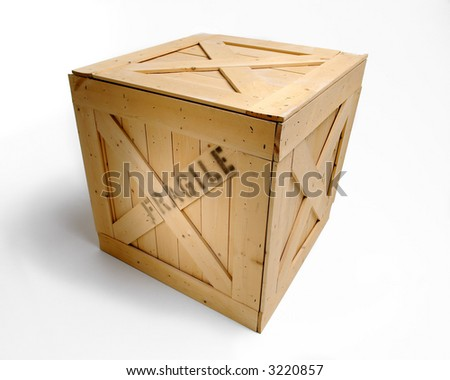 Wooden Crate - stock photo