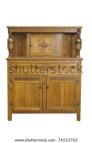 wooden cupboard - stock photo