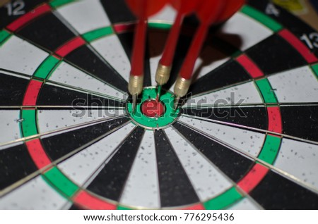 Wooden Dart Board with Arrows