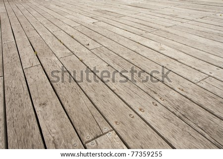 Wooden deck or outdoor terrace - stock photo