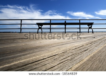 Wooden Deck with a Bench