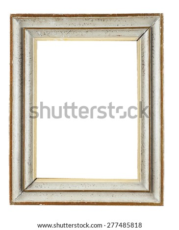 Wooden Decorative Frame Painting Isolated On Stock Photo (Royalty ...