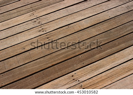 Wooden dock texture on the pier - stock photo
