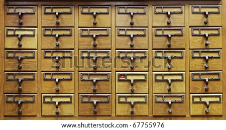 Wooden Document Locker - stock photo
